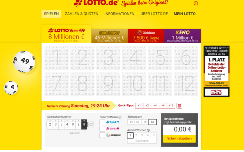 lotto spielen oranienburg